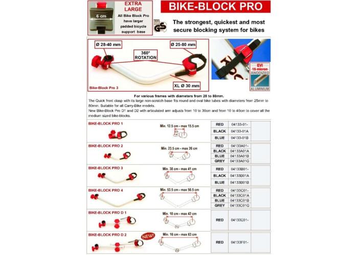 Тримач для велосипеду Bike-Block PRO 4 сірий Fiamma