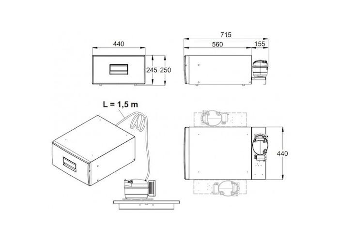 Компресорний висувний холодильник 30л чорний DOMETIC Waeco CoolMatic CD 30