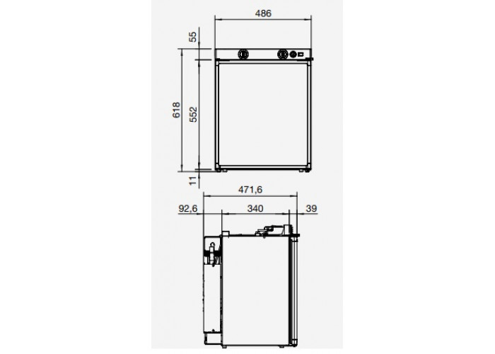 Абсорбційний холодильник із петлями зливи DOMETIC Waeco RM 5310