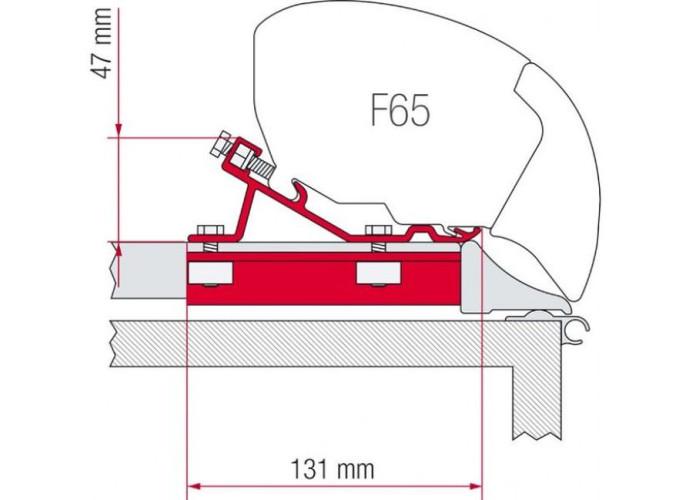 Адаптер маркізи - комплект Ducato-джемпер-боксер (високий дах) до 06.2006 Fiamma
