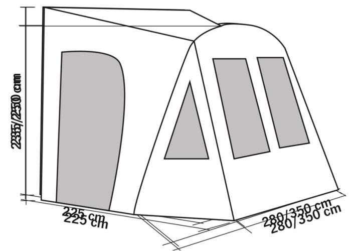 Автомобільний намет Vorzelt Air DORADO RE93783
