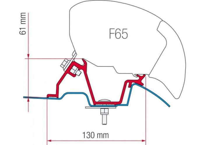 Кронштейн-перехідник для маркізи F65 Eagle 400 Mercedes Sprinter High Roof Fiamma