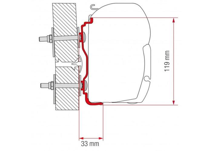 Кронштейн-перехідник для маркізи F45-F70 Kit Hymer 2016 Fiamma