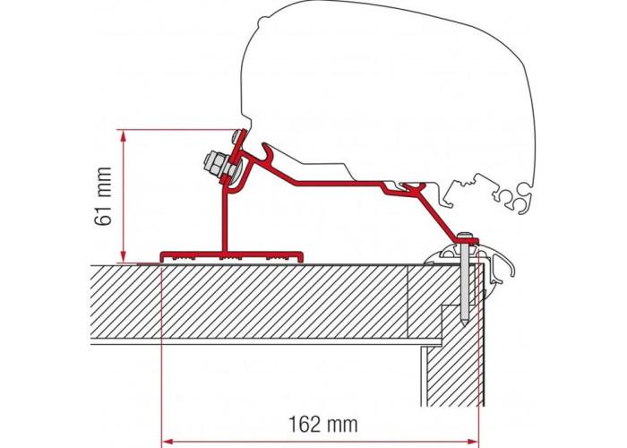 Кронштейн-перехідник для маркізи F80-F65 Caravan Roof 290 Fiamma