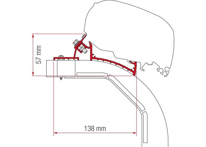 Кронштейн-перехідник для маркізи F80-F65 Kit Arca-Mobilvetta K-Yacht Fiamma