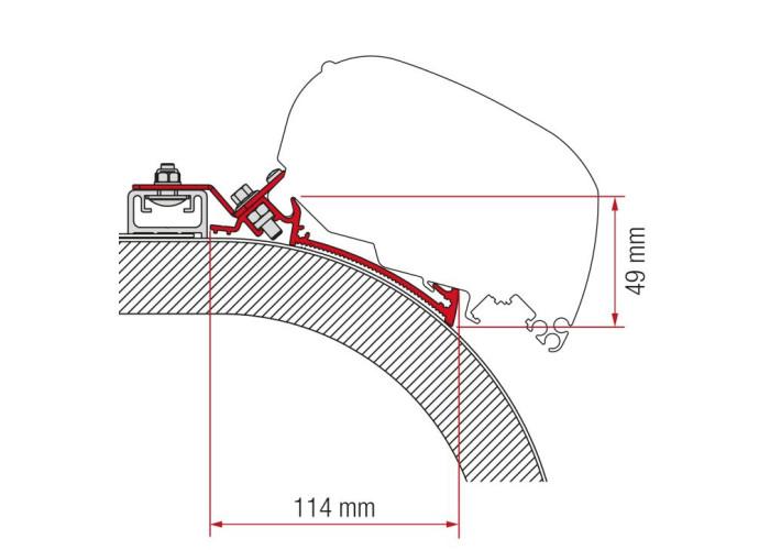 Кронштейн-перехідник для маркізи F80-F65 Rapido Distinction 450 Fiamma