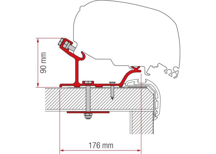 Кронштейн-перехідник для маркізи F80-F65 Carthago Malibu 450 Fiamma