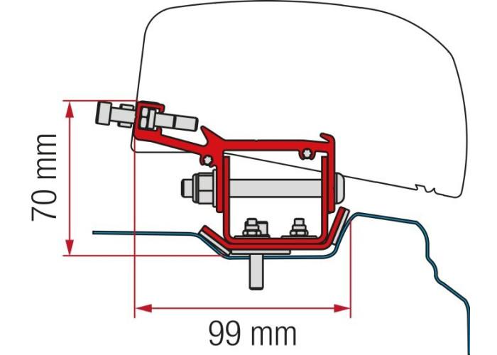 Кронштейн-перехідник для маркізи F40van Kit Renault Trafic L2 (LHD + RHD) Fiamma