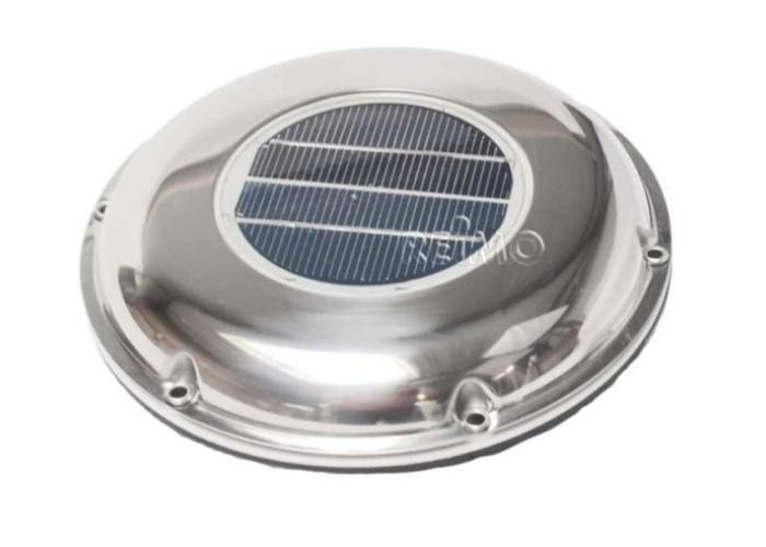 Сонячний вентилятор на даху - хром