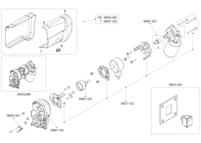 Права сторона опори моторного комплекту маркізи Fiamma