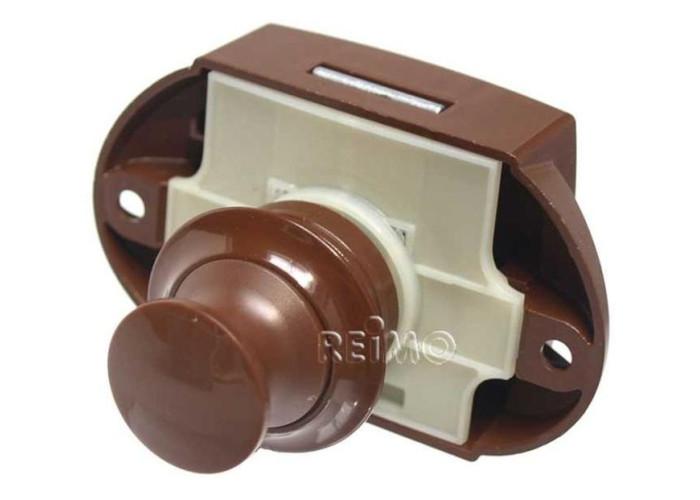Меблевий замок Push Lock  коричневий
